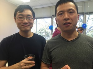 From left to right: Wu and Jinxing